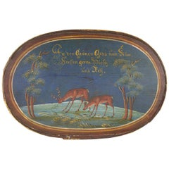 19th Century Blu Animal Painted Italian Box