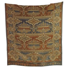 19th Century Blue and Rust Arts & Crafts Woven Textile Panel