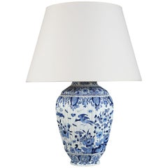 19th Century Blue and White Delft Vase as a Table Lamp