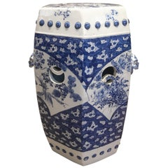 19th Century Blue and White Imari Porcelain Garden Seat
