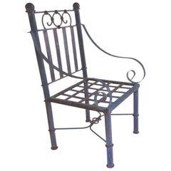 19th Century Blue Metal American Garden Chair