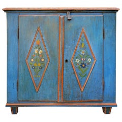 19th Century Blue Painted Sideboard