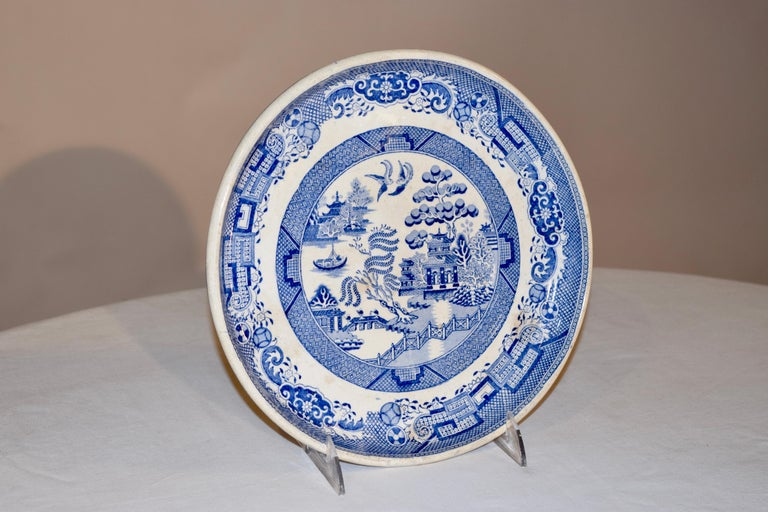 19th century blue and white transfer ware stilton stand in the highly collectable