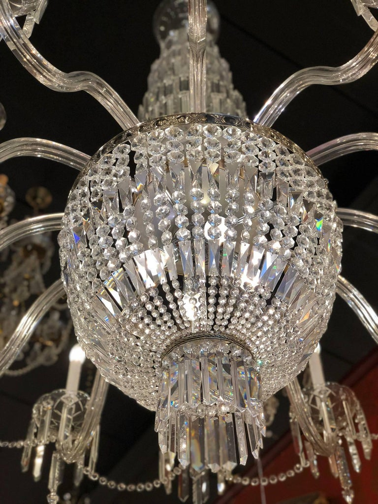 19th century bohemian twelve light cut crystal chandelier from czech plated 19th century bohemian twelve light cut crystal chandelier from czech republic for sale aloadofball Image collections
