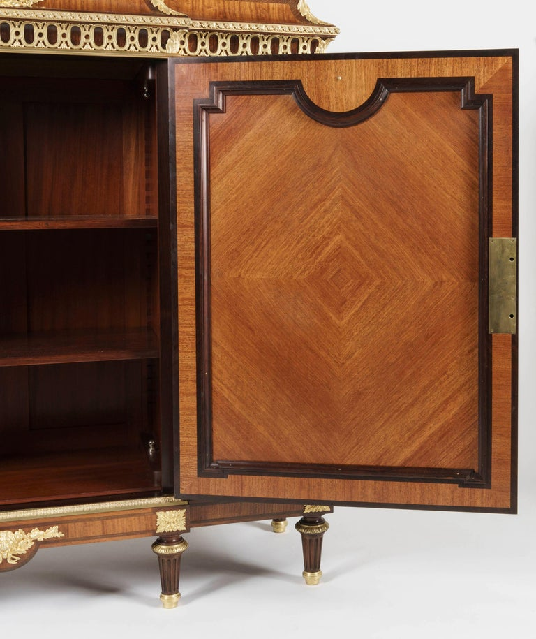 French 19th Century Bookmatched Cabinet with Marble Top by François Linke For Sale