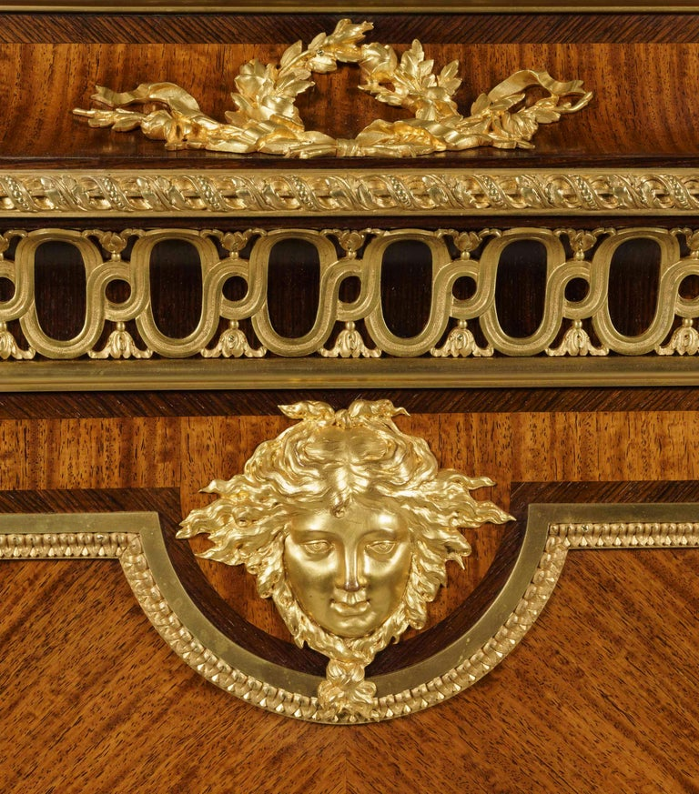 19th Century Bookmatched Cabinet with Marble Top by François Linke In Good Condition For Sale In London, GB