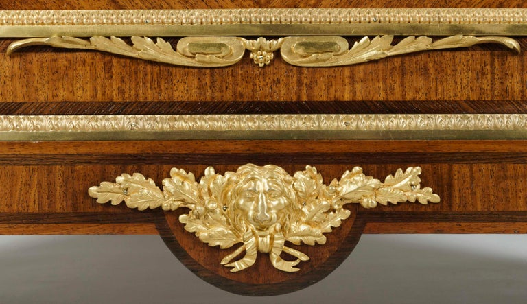 Early 20th Century 19th Century Bookmatched Cabinet with Marble Top by François Linke For Sale