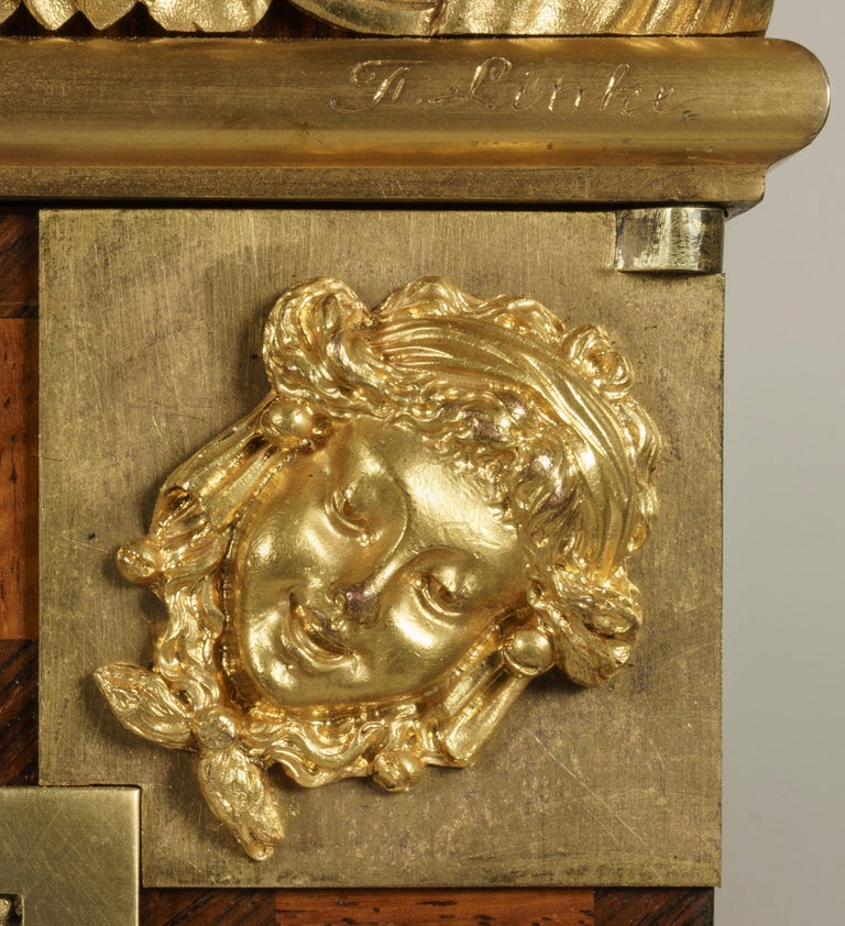 Ormolu 19th Century Bookmatched Cabinet with Marble Top by François Linke For Sale