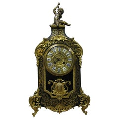 19th Century Boulle Mantel Clock Richly Ornamented