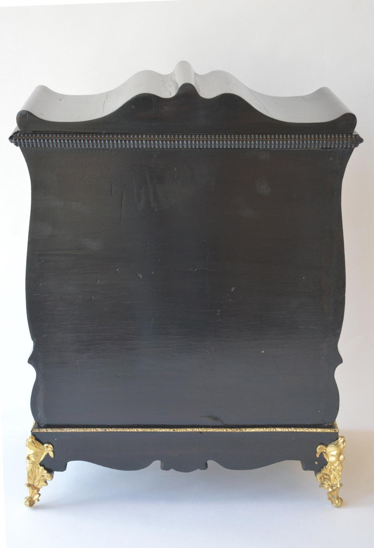 19th Century Boulle Writing Box with Inkwell For Sale 5