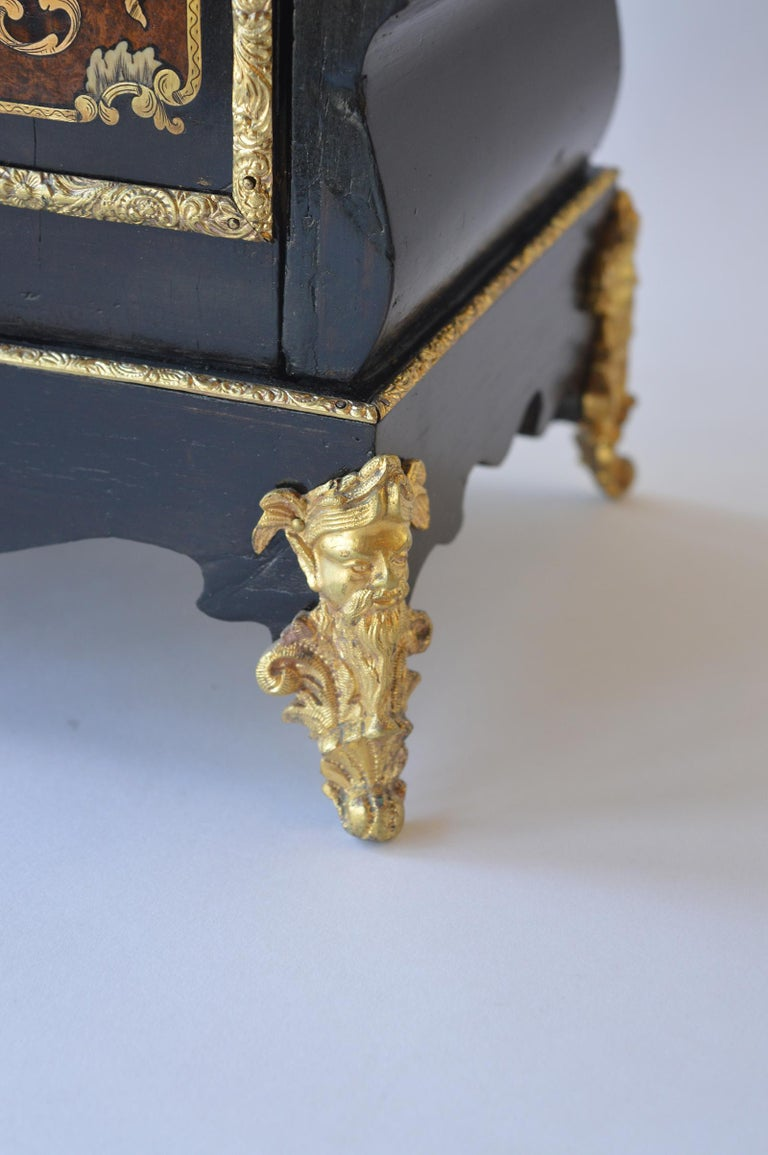 Mother-of-Pearl 19th Century Boulle Writing Box with Inkwell For Sale