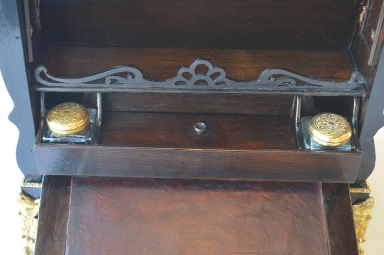 19th Century Boulle Writing Box with Inkwell For Sale 3