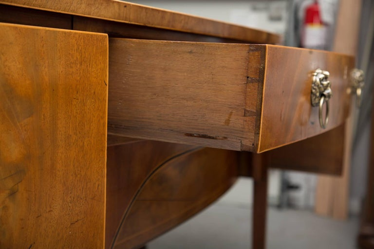 English 19th Century Bowfront Mahogany Sideboard For Sale