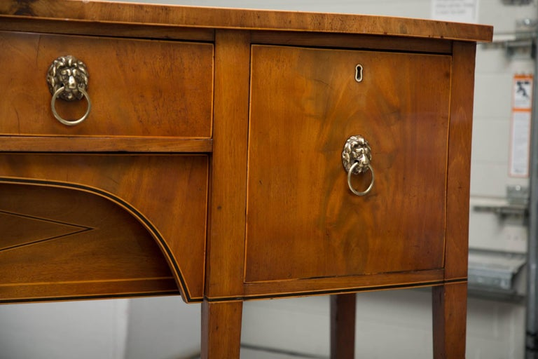 19th Century Bowfront Mahogany Sideboard For Sale 3
