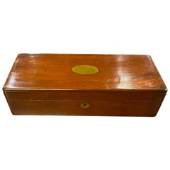 19th Century Box with Brass Plaque