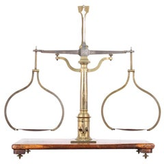 19th Century Brass Balance Scale