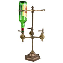 19th Century Brass Bar Optic Triple Dispenser