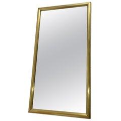 19th Century Brass Bistro Mirror, France, 1850