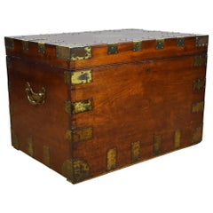 19th Century Brass Bound Sea Chest/Coffee Table