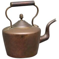 19th Century Brass Copper Kettle