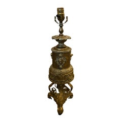 19th Century Brass Formerly Oil Lamp