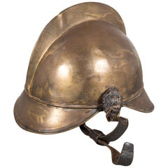 19th Century Brass French Fire Bridage Helmet, circa 1890s