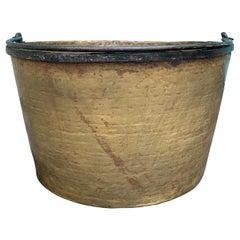19th Century Brass & Iron Bucket