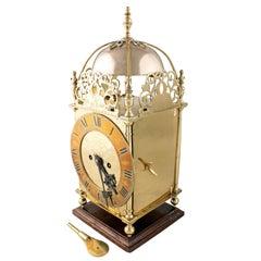 19th Century Brass Lantern Clock