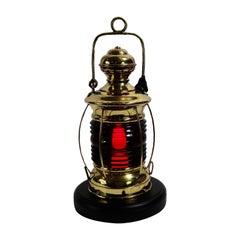 19th Century Brass Ships Lantern