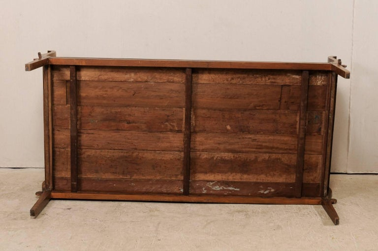 19th C. Brazilian Nicely Carved Peroba Hardwood Daybed (or Backless Bench)  For Sale 7