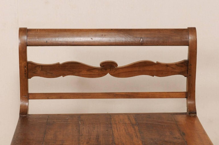 19th C. Brazilian Nicely Carved Peroba Hardwood Daybed (or Backless Bench)  For Sale 4