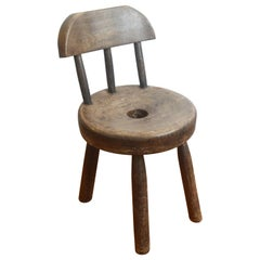 19th Century Brazilian Stool Made of Solid Wood