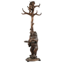 19th Century Brienz Black Forest Hand-Carved Bear Hall Stand