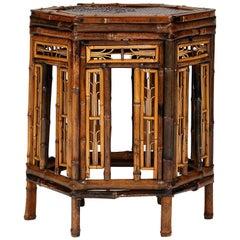 19th Century Brighton Pavilion Style Bamboo Table