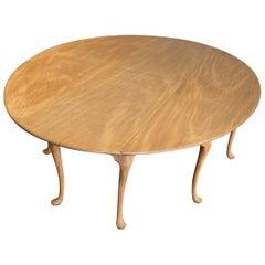 19th Century British Bleached Mahogany Wake Table, Likely Irish
