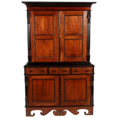 19th Century British Colonial Ceylonese Satinwood and Ebony Cabinet