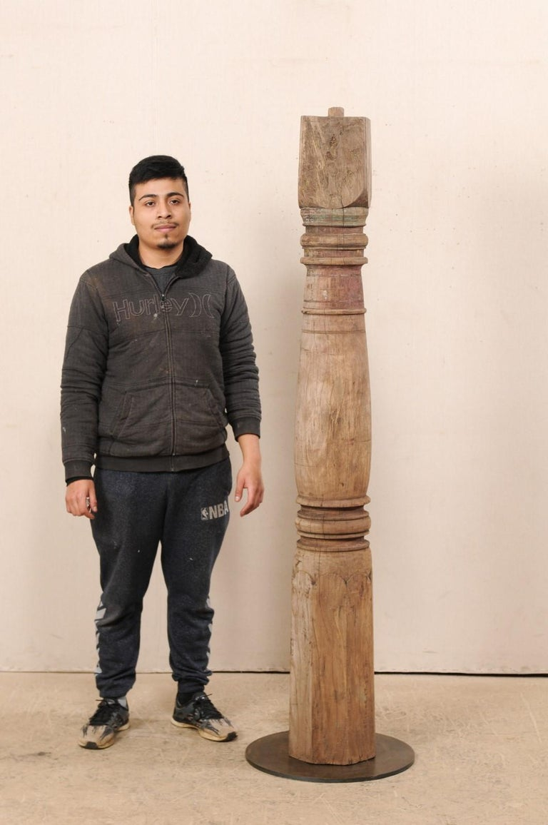 19th Century British Colonial Wood Column For Sale 6