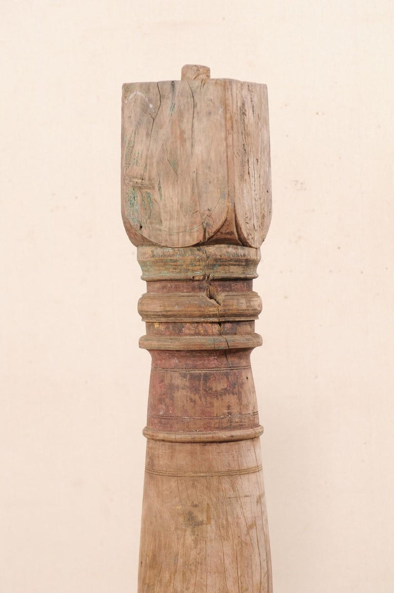 19th Century British Colonial Wood Column For Sale 2