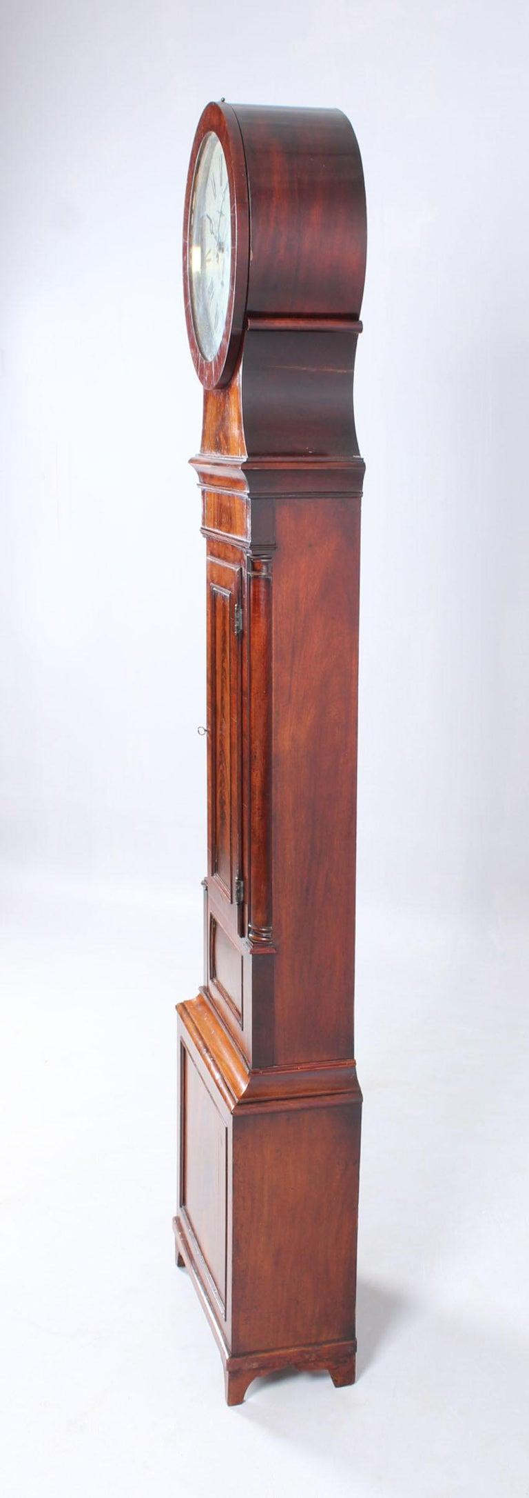 19th Century British Grandfather Clock, Longcase, Mahogany, Scotland circa 1825 For Sale 7
