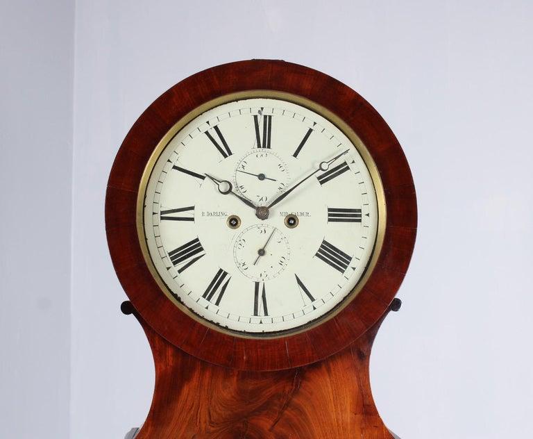 Regency 19th Century British Grandfather Clock, Longcase, Mahogany, Scotland circa 1825 For Sale