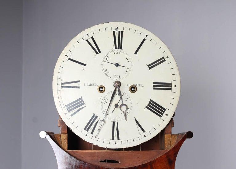 19th Century British Grandfather Clock, Longcase, Mahogany, Scotland circa 1825 In Good Condition For Sale In Greven, DE