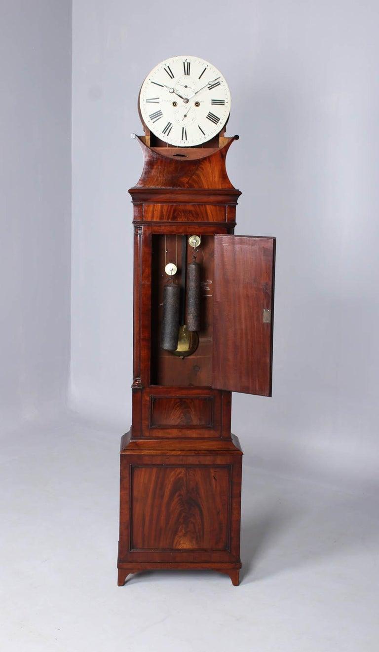 Early 19th Century 19th Century British Grandfather Clock, Longcase, Mahogany, Scotland circa 1825 For Sale