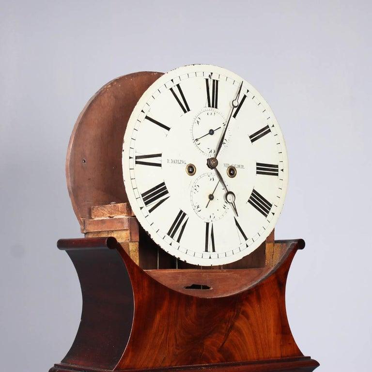 19th Century British Grandfather Clock, Longcase, Mahogany, Scotland circa 1825 For Sale 1
