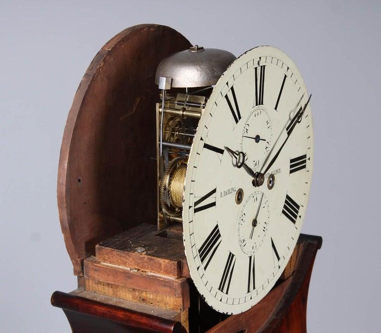 19th Century British Grandfather Clock, Longcase, Mahogany, Scotland circa 1825 For Sale 2