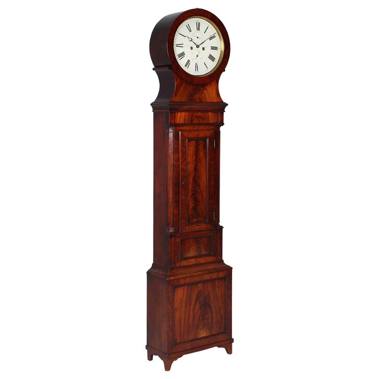 19th Century British Grandfather Clock, Longcase, Mahogany, Scotland circa 1825 For Sale