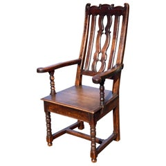 19th Century British Oak and Elm Armchair