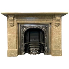 19th Century British Swaledale Marble Corbelled Fireplace Surround