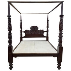19th Century British West Indies 4 Post Bed from Jamaica 'California King'