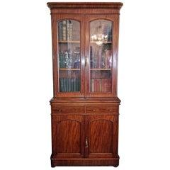 19th Century British William IV Mahogany Bookcase of Neat Proportions