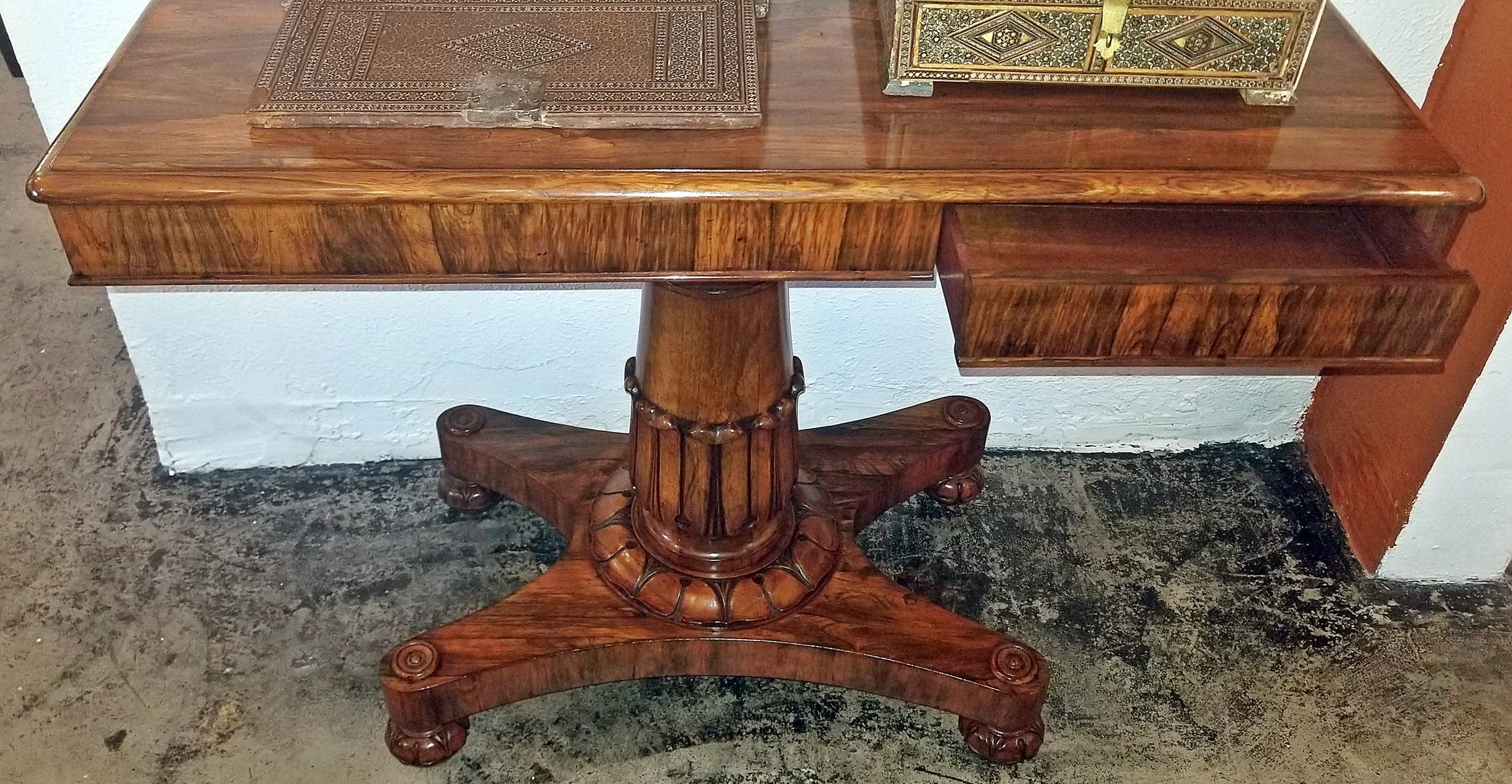 19th Century British William Iv Telescopic Side Table In The Manner Of Gillow S For At 1stdibs